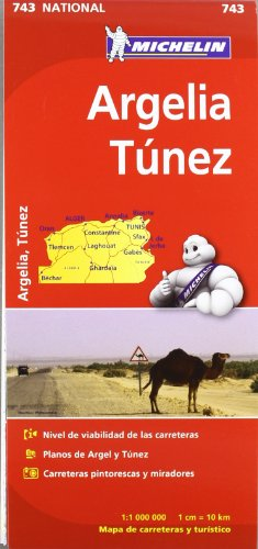 Mapa National Argelia Túnez (Mapas National Michelin) por Vv.Aa
