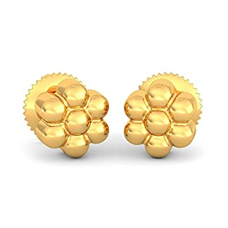 BlueStone 22k (916) Yellow Gold Prakriti Stud Earrings