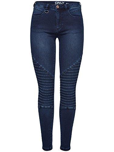 ONLY Damen Jeans Leggings onlROYAL Biker REG DNM Jeans BJ11502 dunkelblau (XS/L32)