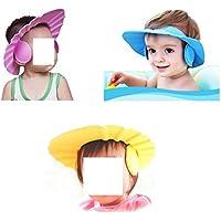 Baby Zu Halten Das Wasser Aus Den Augen Und Gesichtsschutz blau Dusche Badekappe Sichere Shampoo-Hut F/ür Kleinkind