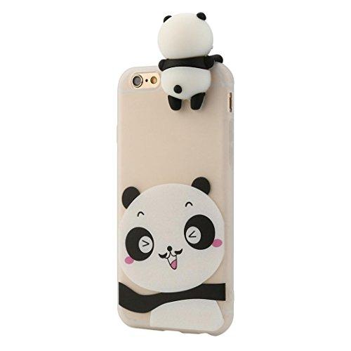 Preisvergleich Produktbild Abdeckungs LETTER IPhone 6 / 6s 3D Karikatur-Tiere weichen Silikon Kasten Abdeckungs (C)