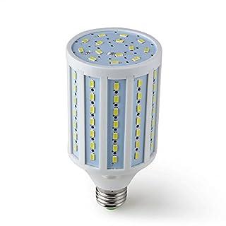 Alfa Lighting E27 20W LED Mais Licht Birne 98x 5730 SMD LEDs LED Lampe Leuchtmittel (Kaltweiß 6500K, 1200lm, 360º Abstrahlwinkel, 200V - 265V AC,) Energiespar Licht [Energieklasse A]