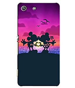 Citydreamz Mickey Mouse\Cartoon\Love Hard Polycarbonate Designer Back Case Cover For Sony Xperia M5 Aqua/ M5 Dual Sim