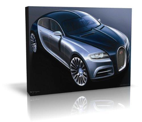 Bugatti 16 C Galibier Concept auf Rahmen Leinwand-Kunstdruck 30 inch x 40 inch (C-rahmen-motor)