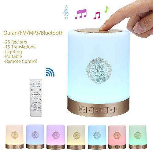 Coran Quran Touch Lampada Bluetooth Altoparlante Telecomando MP3 Player Portatile 8GB Scheda TF FM Coran Translator USB