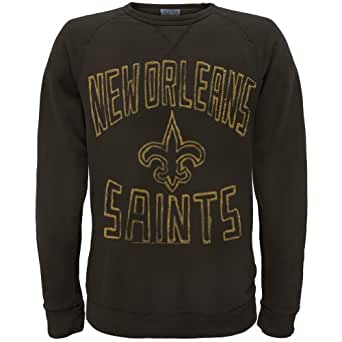 New Orleans Saints - Mens Logo Crew Neck Sweatshirt - X-Large Black