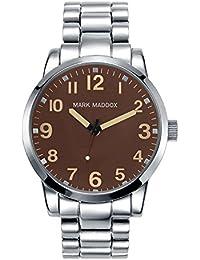 Mark Maddox HM3003–44Reloj de hombre metal plata marrón