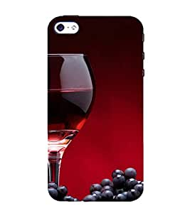 FUSON Red Wine And Grapes 3D Hard Polycarbonate Designer Back Case Cover for Apple iPhone 5S