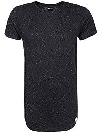 98-86 Herren Melange Basic T-Shirt | Männer Shirt mit coolem Struktur-Effekt