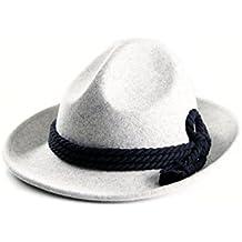 ALMBOCK Trachtenhut Herren | Trachten Hut für Herren aus 100% Filz in den Farben schwarz, braun, grau, grün und in den Größen M, L, XL | Tiroler Hut, Oktoberfest Hut