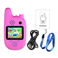 """Eookall Children Camera,Children Camera Walkie Talkie 8MP Dual Lenses 2.0"""" IPS Screen Extended Memory Built-in Battery Music and Game Timer Shooting Automatic Focusing"""
