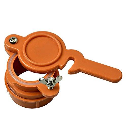 Honig Schieber, 2 Stück Nylon Honig Flow Outlet Gateway, Honig Ernte Tap Imkerei Ausrüstung Für Honig-Extraktor,Orange