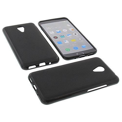 foto-kontor Tasche für Meizu M2 Note Gummi TPU Schutz Hülle Handytasche schwarz