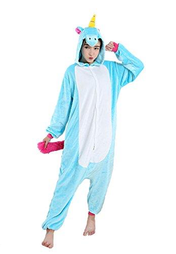 a306adb4d7bd5 Adulte Unisex Licorne Pyjama Kiguruma Combinaison Vêtement de Nuit Cosplay  Costume Déguisement.