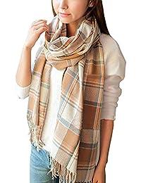 5341189204ee82 UMIPUBO Sciarpa Donna Inverno, donna inverno scialle maglione cappotto Girl  grandi Tartan Wrap Maglia Scialle