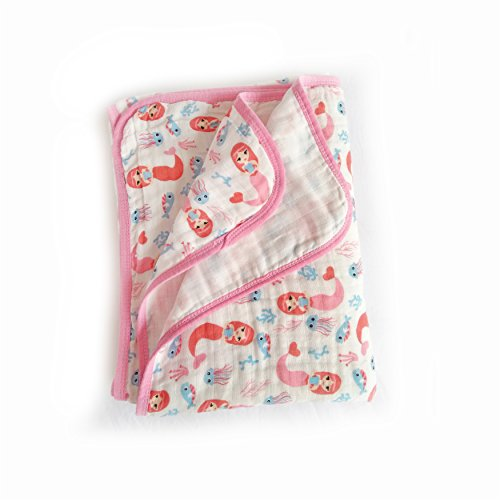 Miracle Baby Couverture Emmaillotage de Mousseline En Coton Deux Couches 100 x 150cm, Poussette de Bébé Pour Nouveau-Né Douce Ultra
