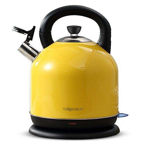 YANFEI Wasserkocher Haushalt Edelstahl Wasserkocher Gelb 4.2L 2000W 220V Automatische Abschaltung Anti-trocken Schöne Mode Schnellkochen