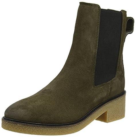 Tommy Hilfiger Damen M1285IA 3B2 Chelsea Boots, Grün (Musk), 37 EU (Chelsea Girls Schuhe)