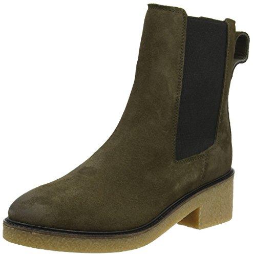 Tommy Hilfiger Damen M1285IA 3B2 Chelsea Boots, Grün (Musk), 39 EU