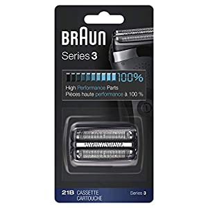 Braun Shaver Replacement Part 21B Black, Compatible with Series 3 Shavers