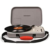 Crosley Messenger Belt-Drive Audio Turntable Grey - Tocadiscos (Belt-Drive Audio Turntable, Grey, 33 1/3,45,78 RPM)