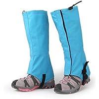 Primi esquí senderismo Caza resistente al agua Polainas de nieve esquí (cielo Azul L)