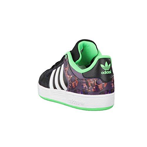 Adidas Varial Sneaker für Kinder Black/Ash Purple/Flash Green