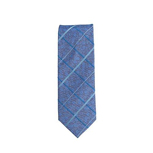 Silk classico cravatta seta paisley blu azzurro floreale 8