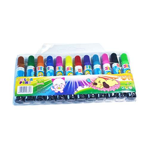 12 Farben Farbstifte Marker Permanent auf Wasserbasis, funktioniert auf den meisten Oberflächen Glas, Holz, Metall, Gummi, Steine, Kunst- und Bastelarbeiten, 12 Stück