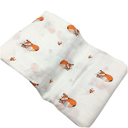 Kangcheng Toallitas bebé niños Muslin Swaddle Blanket