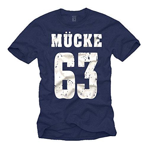 Coole Spencer T-Shirts dunkelblau MÜCKE 63 T-Shirt Größe XL