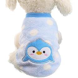 Ropa para Perros Amlaiworld Sudaderas Suéter para Perros Pequeños Cachorro Perritos Mascotas Caliente Suave Invierno Otoño (Azul, XL)
