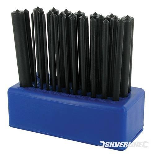 Körner-Set, Maschinenbau, 28-teilig, 2-13mm, genaues Übertragen von Bohrlöchern von einem Werkstück auf ein anderes, spitze Spitze für genaue Markierung - Transfer Punch Set