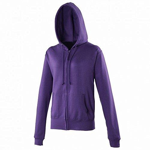 Awdis - Sweatshirt à capuche et fermeture Éclair - Femme Pourpre