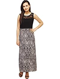 Adyuth Women Crepe Net Dress