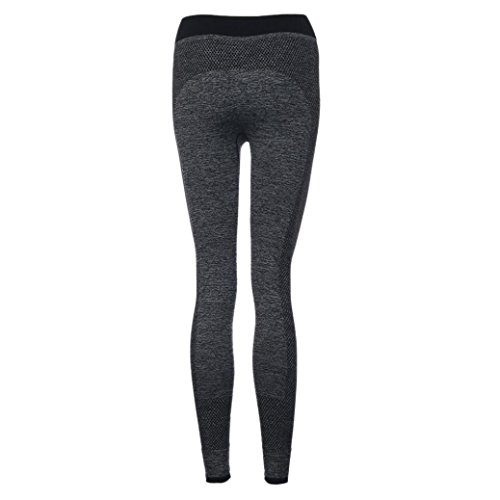 Pantalon de Yoga femmes,Jimma Femmes Yoga Leggings Fitness pantalon d'entraînement Gym Patchwork Sports pantalon Gris
