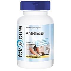 Idea Regalo - Capsule antistress - vegan - con vitamine del gruppo B - taurina - selenio - panax ginseng rosso ecc. - 180 capsule - confezione per 3 mesi