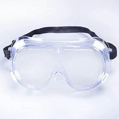 Semoic Anti-Impact Anti-Chemikalien-Splash Schutzbrille Economy klar Objektiv Augenschutz Staub Labor Glaeser