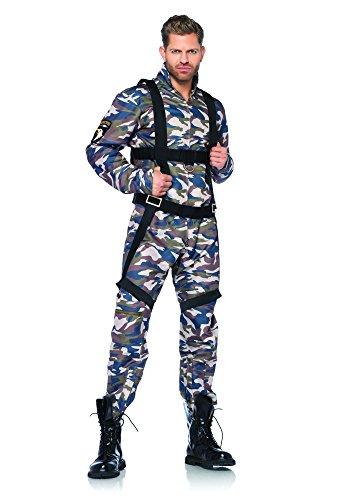 Leg Avenue 85279 - 2Tl. Kostüm Set Fallschirmjäger, Größe XL, camo, Männer Karneval (Kostüm Fallschirmjäger Zubehör)