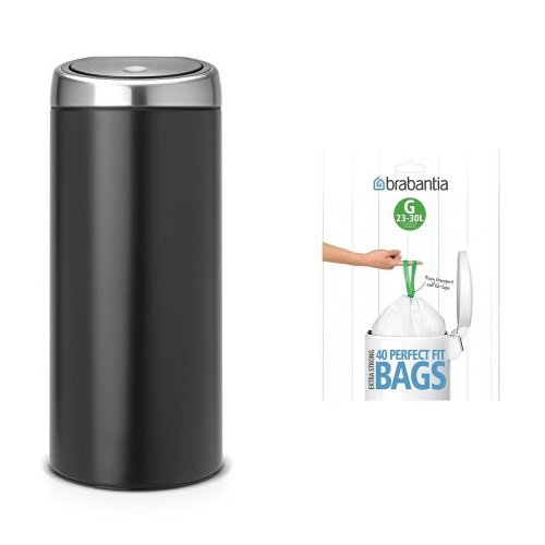 brabantia-touch-bin-with-bin-liners-30-l-matte-black-with-fingerprint-proof-lid
