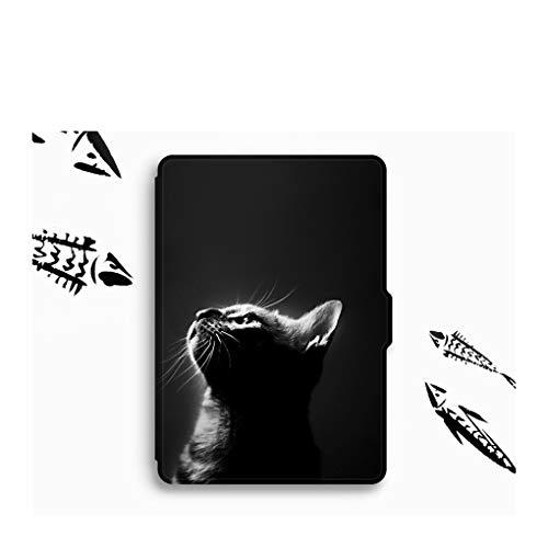 BHTZHY Smart Cover Case Für 2018 Amazon Kindle Paperwhite 4 10. E-Reader Schwarze Katze Tier Kindle Case Kindle Paperwhite 4 Cover