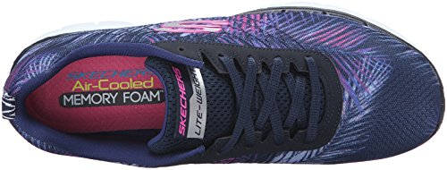 Skechers Damen Flex Appeal 2.0-tropical Bree Outdoor Fitnessschuhe Blau (nvpk)