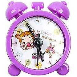 GerTong Sacapuntas Cute Reloj de Plástico Manual Papelería Creative Regalos para Niños Suministros Escolares 5.5 * 5.5 * 2.7cm morado