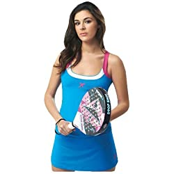Drop Shot Daniela - Camiseta para mujer, color azul, talla XL