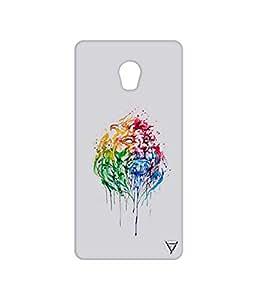 Vogueshell Graffiti Lion Printed Symmetry PRO Series Hard Back Case for Lenovo Vibe P1