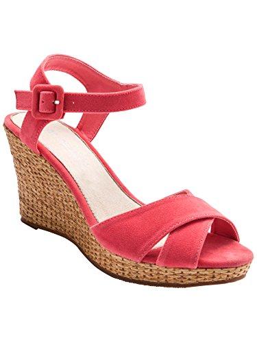 Balsamik - Sandalen mit gemustertem Keilabsatz - Damen Koralle