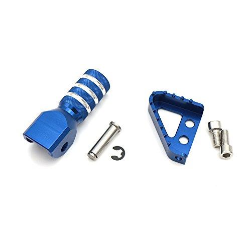 Motorrad CNC Hinten Bremspedal Schritt Platte Tipp + Schalthebel Schalthebel Für 125-530cc 950 SUPERENDUROR 690 SMC (blau)