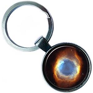 NASA Photograph Helix Nebula The Eye of God Nebel Foto Silver Keychain Silber Schlüsselanhänger