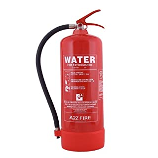 Water Fire Extinguisher 9 Ltr by A2Z Fire Safety - UK Manufactured with 5 Year Warranty