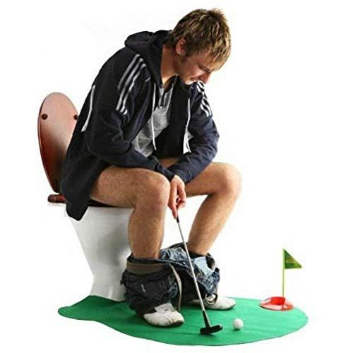 DIVISTAR Putting-Matte für Toilette, Golfschläger, Golfspiel